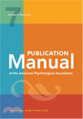 Publication manual of the American Psychological Association : the official guide to APA style