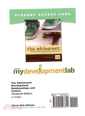 The Adolescent Development, Relationships, and Culture ― Mydevelopmentlab Student Access Code Card
