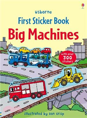 First Sticker Books Big machines (貼紙書)