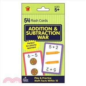 Addition & Subtraction War ― Flash Cards