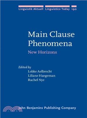 Main clause phenomena : new horizons